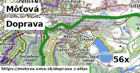 doprava v Môťová