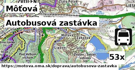 autobusová zastávka v Môťová