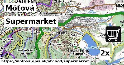 supermarket v Môťová