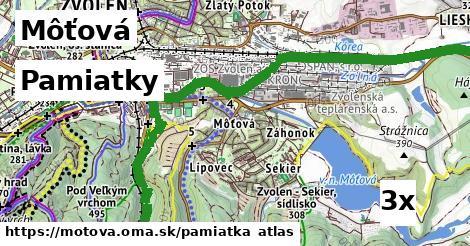 pamiatky v Môťová