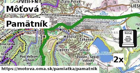ilustračný obrázok k Pamätník, Môťová