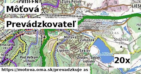 prevádzkovateľ v Môťová
