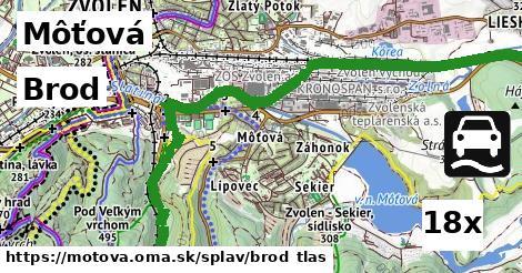 brod v Môťová