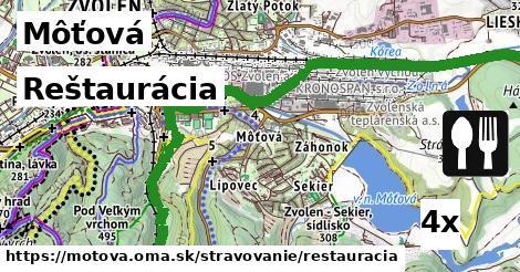 ilustračný obrázok k Reštaurácia, Môťová