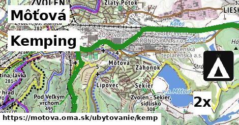 kemping v Môťová