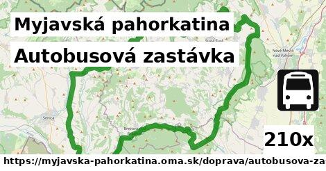 ilustračný obrázok k Autobusová zastávka, Myjavská pahorkatina