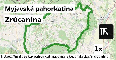ilustračný obrázok k Zrúcanina, Myjavská pahorkatina