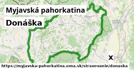 donáška v Myjavská pahorkatina