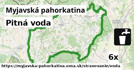 pitná voda v Myjavská pahorkatina