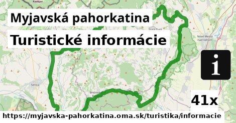 turistické informácie v Myjavská pahorkatina