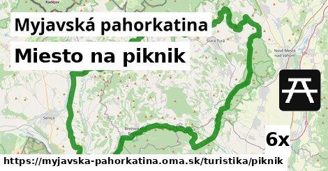 miesto na piknik v Myjavská pahorkatina