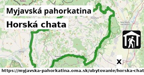 horská chata v Myjavská pahorkatina