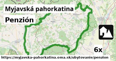 penzión v Myjavská pahorkatina