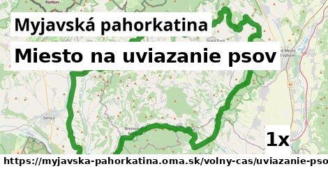 miesto na uviazanie psov v Myjavská pahorkatina