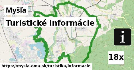 turistické informácie v Myšľa