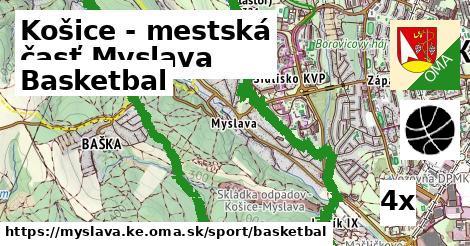 basketbal v Košice - mestská časť Myslava