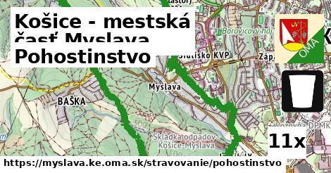 pohostinstvo v Košice - mestská časť Myslava
