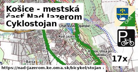 cyklostojan v Košice - mestská časť Nad Jazerom