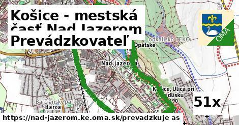 prevádzkovateľ v Košice - mestská časť Nad Jazerom
