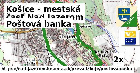 ilustračný obrázok k Poštová banka, Košice - mestská časť Nad Jazerom
