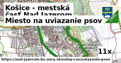 miesto na uviazanie psov v Košice - mestská časť Nad Jazerom