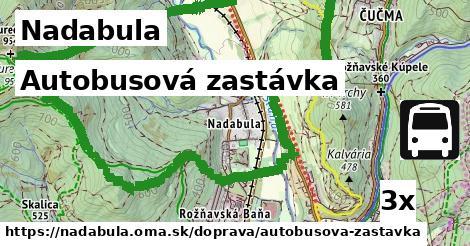 autobusová zastávka v Nadabula