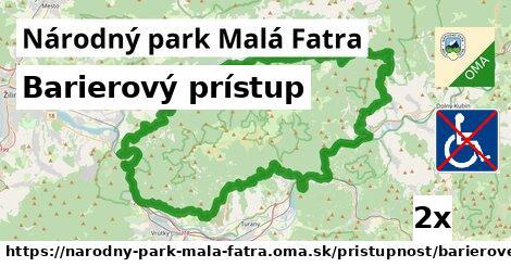 ilustračný obrázok k Barierový prístup, Národný park Malá Fatra