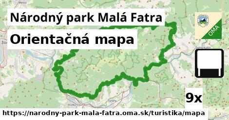 ilustračný obrázok k Orientačná mapa, Národný park Malá Fatra