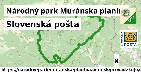 ilustračný obrázok k Slovenská pošta, Národný park Muránska planina