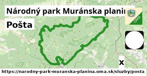 ilustračný obrázok k Pošta, Národný park Muránska planina