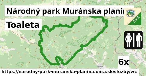 ilustračný obrázok k Toaleta, Národný park Muránska planina