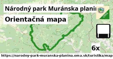 ilustračný obrázok k Orientačná mapa, Národný park Muránska planina