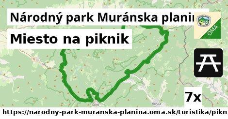 ilustračný obrázok k Miesto na piknik, Národný park Muránska planina