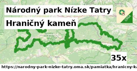 ilustračný obrázok k Hraničný kameň, Národný park Nízke Tatry