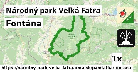 ilustračný obrázok k Fontána, Národný park Veľká Fatra