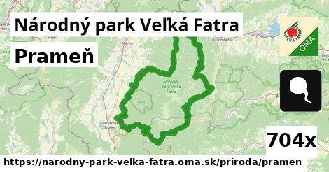 ilustračný obrázok k Prameň, Národný park Veľká Fatra