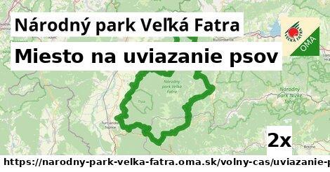 ilustračný obrázok k Miesto na uviazanie psov, Národný park Veľká Fatra