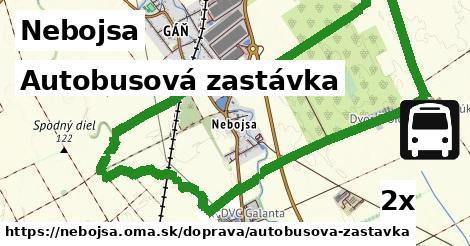autobusová zastávka v Nebojsa