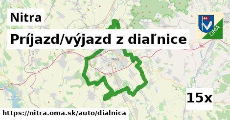 príjazd/výjazd z diaľnice v Nitra