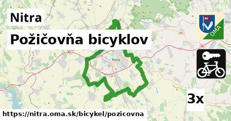 Požičovňa bicyklov, Nitra
