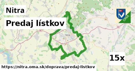 predaj lístkov v Nitra