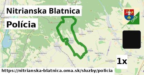 polícia v Nitrianska Blatnica