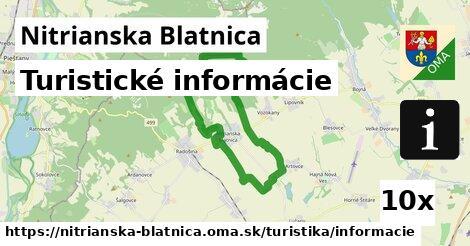 turistické informácie v Nitrianska Blatnica