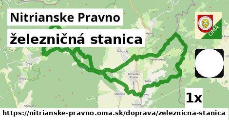 ilustračný obrázok k železničná stanica, Nitrianske Pravno
