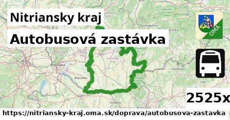 ilustračný obrázok k Autobusová zastávka, Nitriansky kraj