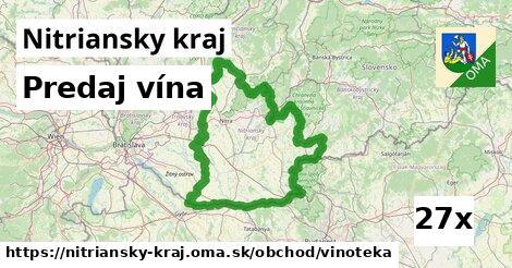 predaj vína v Nitriansky kraj