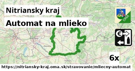 automat na mlieko v Nitriansky kraj