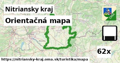 ilustračný obrázok k Orientačná mapa, Nitriansky kraj