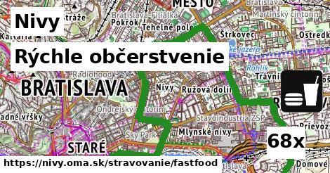 rýchle občerstvenie v Nivy