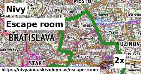 escape room v Nivy